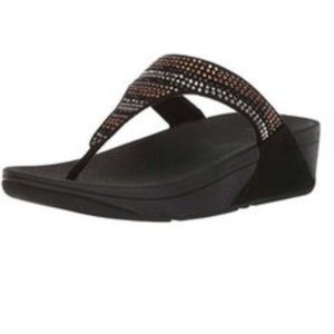 ** FitFlop Strobe Luxe Toe Thong Sandal NEW